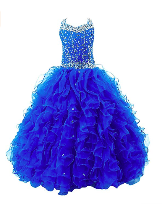 Girl's formal wear pageant ballgown