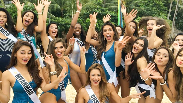 Miss Universe 2016 contestants in swimsuit