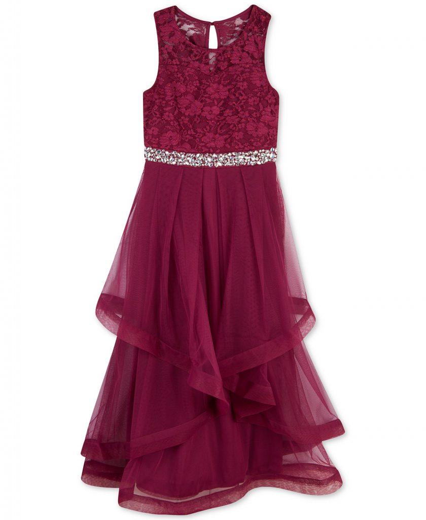 Girls formal wear pageant dress