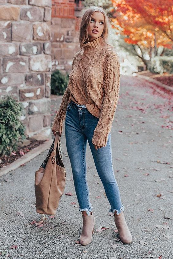 Cable Knit Sweater outfit fall winter wardrobe