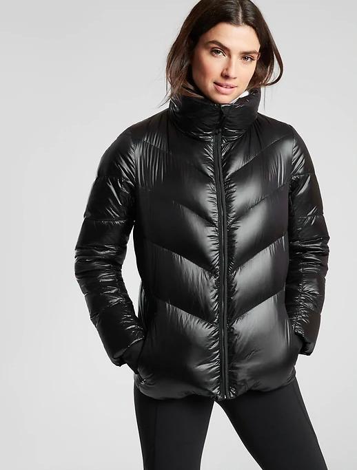 Black Packable down jacket