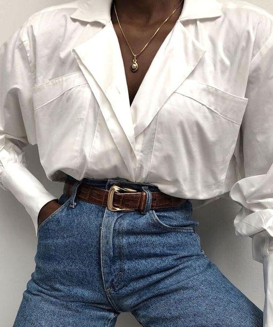 White blouse fall winter wardrobe