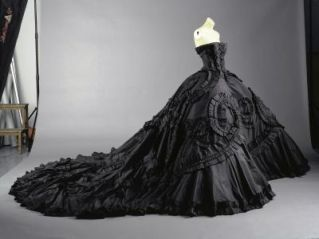 Black Christian Dior wedding Ball gown
