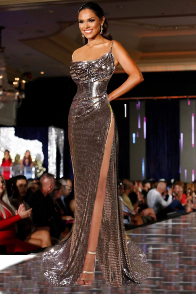 Miss Texas usa evening gown Valdrin Sahiti