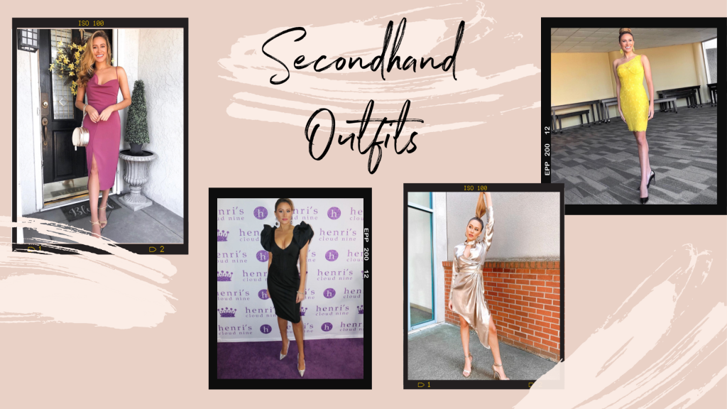 Secondhand thrifted outfits sustainable wardrobe