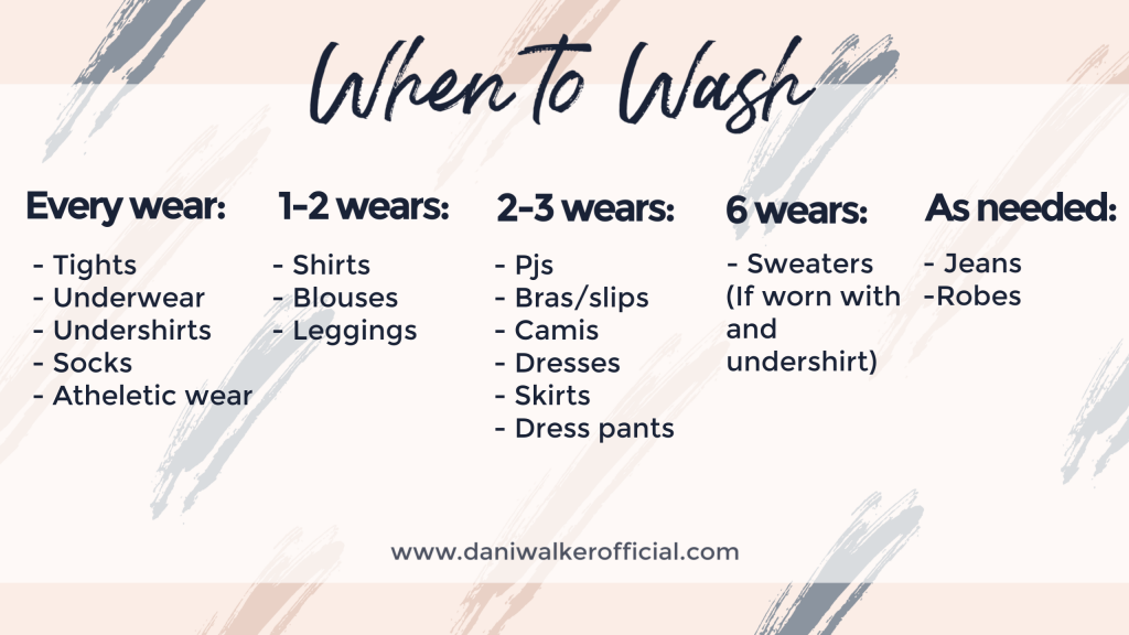 when to wash your clothes sustainable wardrobe