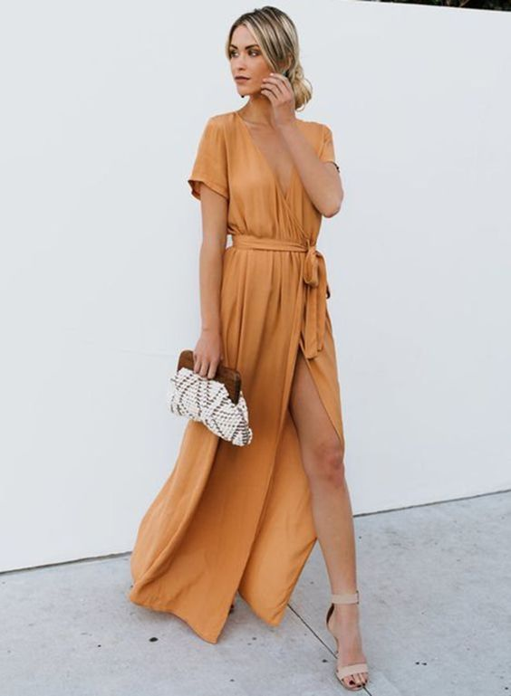 yellow maxi dress spring summer outfit