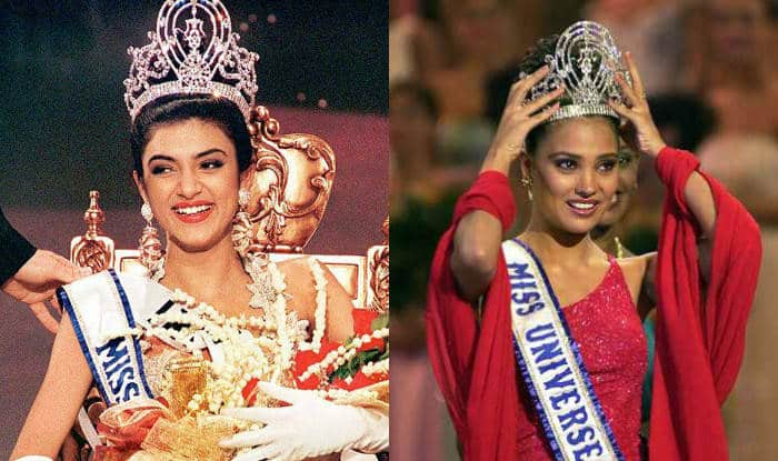 Sushmita Sen and Lara Dutta Miss Universe crowning
