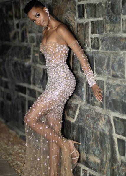 Miss Universe 2019 in Warrick Gautier gown